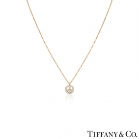 Tiffany & Co. Rose Gold Diamond Metro Peace Pendant